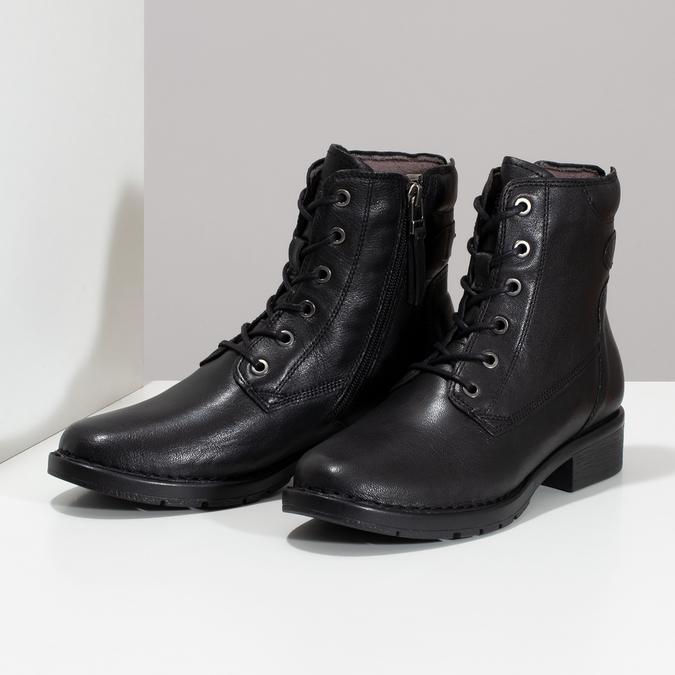 Černá kožená zimní obuv se zateplením camel-active, černá, 696-6592 - 16