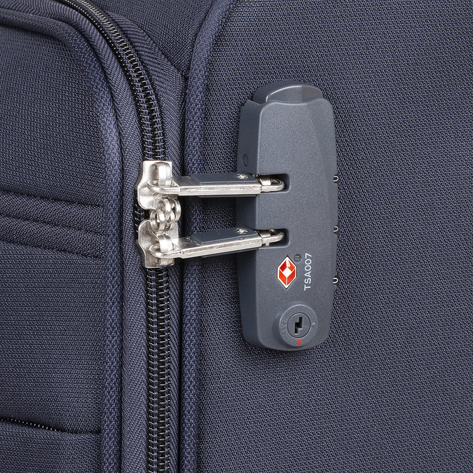 Modrý cestovní textilní kufr samsonite, modrá, 960-9037 - 15