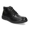 Černá pánská kotníčková kožená obuv geox, černá, 826-6352 - 13