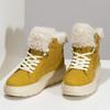 Žlutá dámská kožená zimní obuv geox, žlutá, 596-8542 - 16