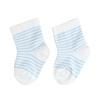 Bílé dětské ponožky s modrými proužky bata, modrá, 919-9766 - 26