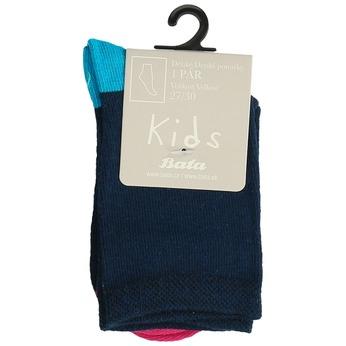 Modré dětské tenisky s barevnými detaily bata, modrá, 919-5685 - 13