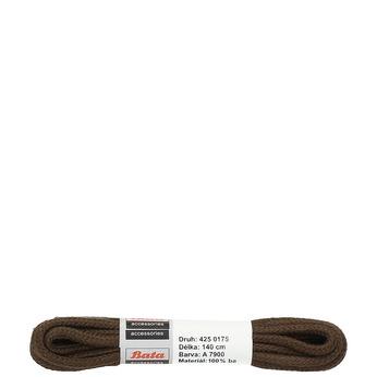 Kulaté hnědé tkaničky bata, hnědá, 901-4145 - 13