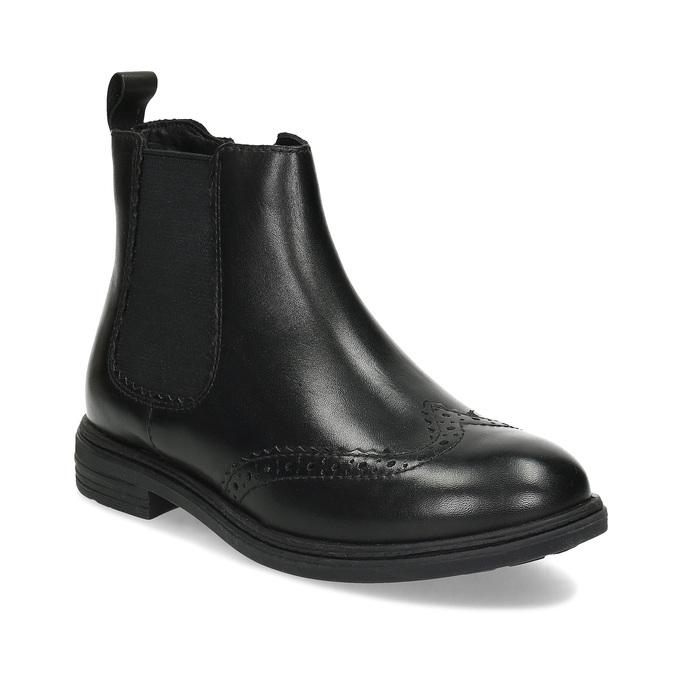Dětská kožená kotníčková Chelsea obuv mini-b, černá, 394-6610 - 13