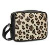 Kožená Crossbody kabelka s leopardím vzorem bata, béžová, 964-0629 - 13