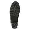 Kotníčkové černé kozačky z broušené kůže bata, černá, 796-6612 - 18