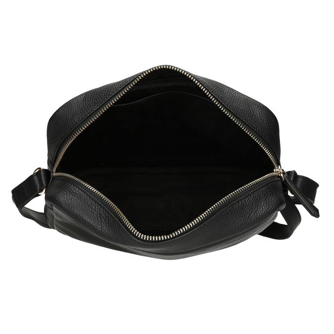 Kožená Crossbody kabelka s leopardím vzorem bata, béžová, 964-0629 - 15