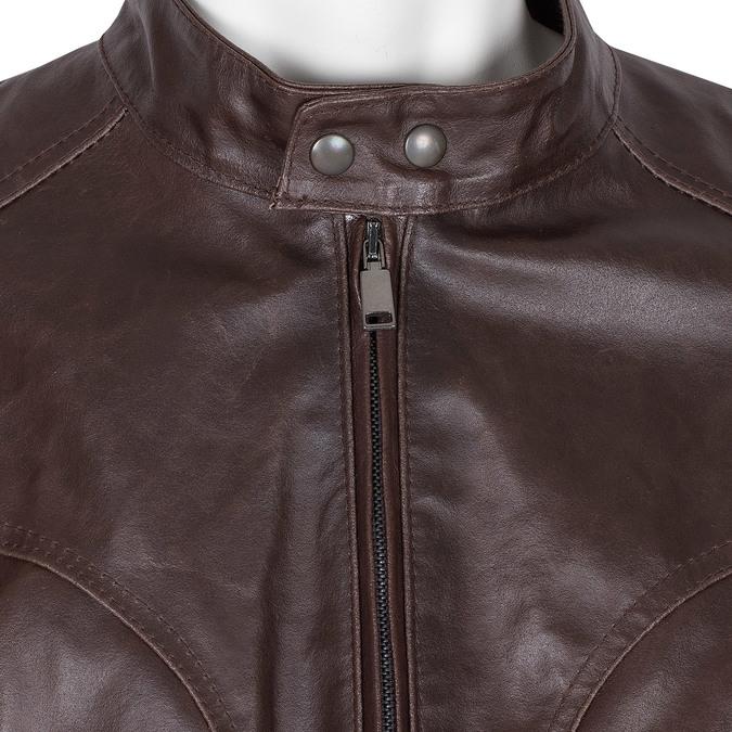 Pánská hnědá kožená bunda bata, hnědá, 974-4178 - 16