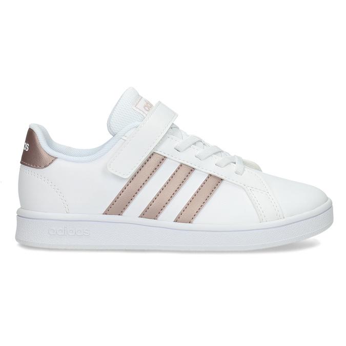 Dětské bílé tenisky se zlatými detaily adidas, bílá, 301-1259 - 19