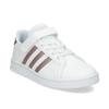 Dětské bílé tenisky se zlatými detaily adidas, bílá, 301-1259 - 13