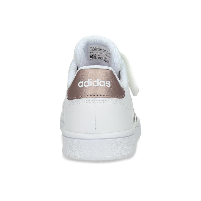 Dětské bílé tenisky se zlatými detaily adidas, bílá, 301-1259 - 15