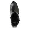 Kožené dámské kozačky s přezkami bata, černá, 594-6665 - 17