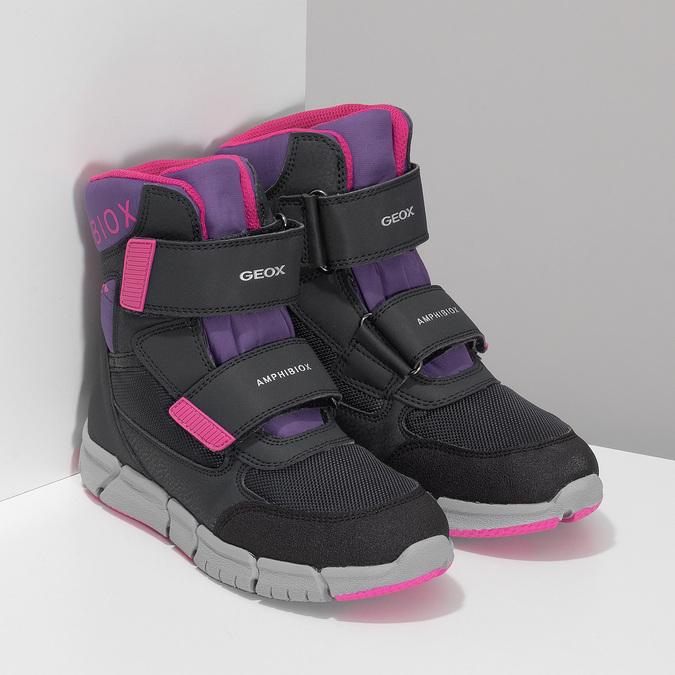 Dětská zimní obuv s růžovými detaily geox, modrá, 399-9314 - 26