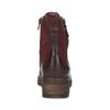 Červené dámské kotníčkové kožené kozačky bata, červená, 696-5603 - 15
