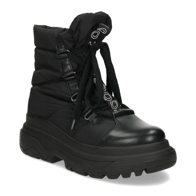 Dámská černá zimní obuv s masivní podešví bata, černá, 591-6625 - 13