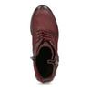 Červené dámské kotníčkové kožené kozačky bata, červená, 696-5603 - 17