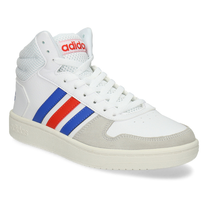 Pánské bílé kotníčkové tenisky adidas, bílá, 801-1327 - 13