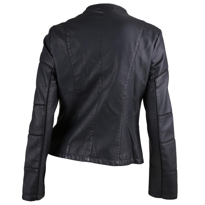 Dámská černá bunda s prošitím bata, černá, 971-6247 - 26