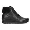 Dámská černá kožená kotníčková obuv comfit, černá, 594-6645 - 19