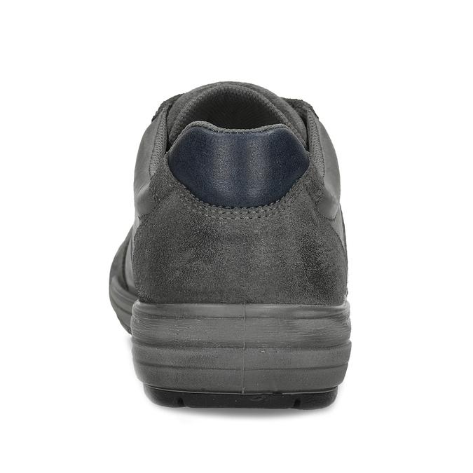 Kožené pánské ležérní tenisky bata, šedá, 846-2714 - 15