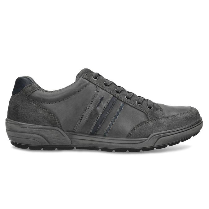 Kožené pánské ležérní tenisky bata, šedá, 846-2714 - 19
