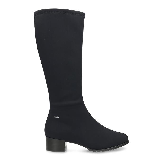 Černé dámské kozačky na stabilním podpatku hogl, černá, 699-6103 - 19