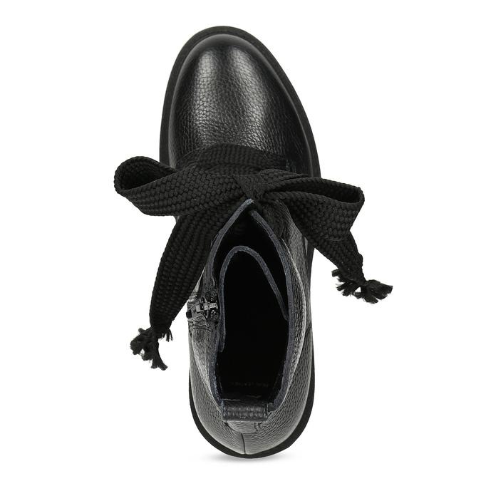Kožené dámské kozačky na masivní podešvi bata, černá, 596-6610 - 17