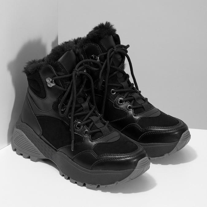 Černá dámská kotníčková zimní obuv bata, černá, 591-6624 - 26
