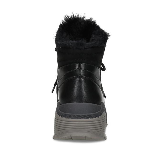 Černá dámská kotníčková zimní obuv bata, černá, 591-6624 - 15