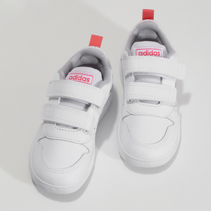 Bílé dětské tenisky s růžovými detaily adidas, bílá, 101-1291 - 16