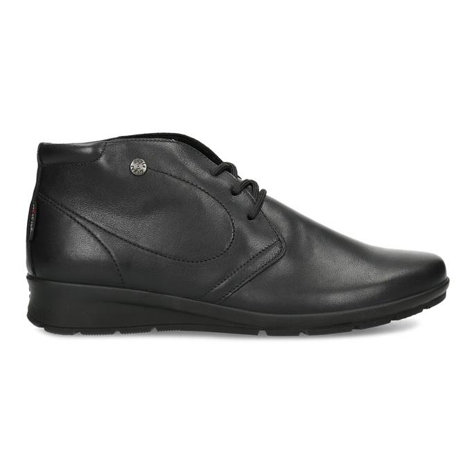 Dámská černá kožená kotníčková obuv comfit, černá, 594-6707 - 19