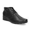 Dámská černá kožená kotníčková obuv comfit, černá, 594-6707 - 13
