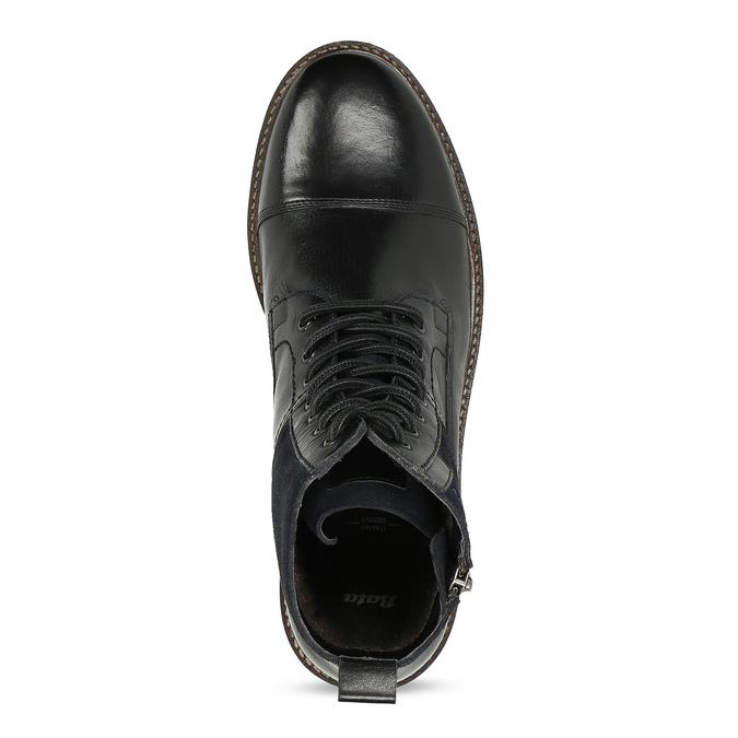 Pánská kožená kotníčková obuv bata, černá, 896-6765 - 17