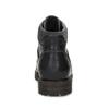 Pánská černá kožená kotníčková obuv bata, šedá, 896-2748 - 15