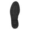 Pánská černá kožená kotníčková obuv bata, šedá, 896-2748 - 18