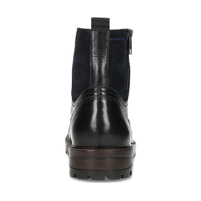 Pánská kožená kotníčková obuv bata, černá, 896-6765 - 15