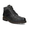 Pánská černá kožená kotníčková obuv bata, šedá, 896-2748 - 13