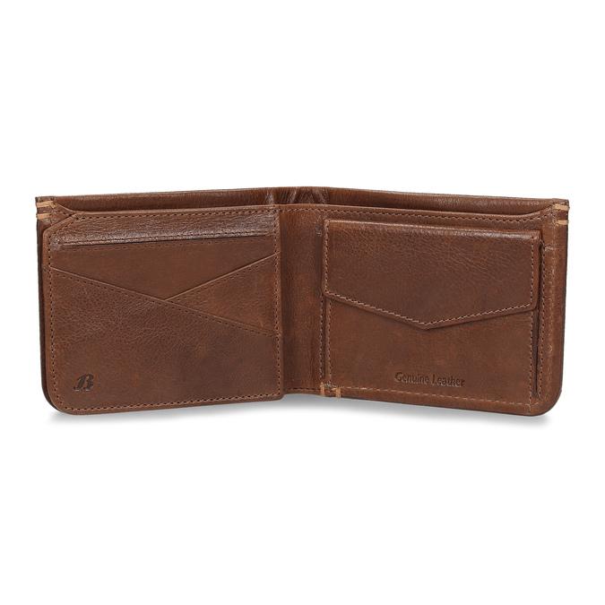 Pánská hnědá kožená peněženka bata, hnědá, 944-3214 - 15