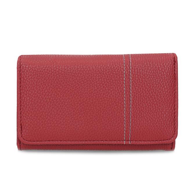Červená dámská peněženka s prošitím bata, červená, 941-5620 - 26