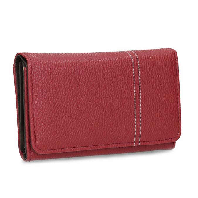 Červená dámská peněženka s prošitím bata, červená, 941-5620 - 13