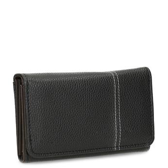 Černá dámská peněženka s prošitím bata, černá, 941-6620 - 13