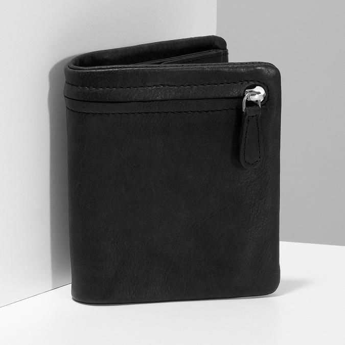 Černá pánská kožená peněženka bata, černá, 944-6619 - 17