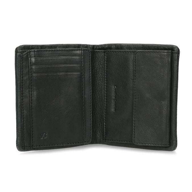 Černá pánská kožená peněženka bata, černá, 944-6619 - 15