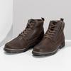 Pánská hnědá kožená kotníčková obuv bata, hnědá, 896-4601 - 16