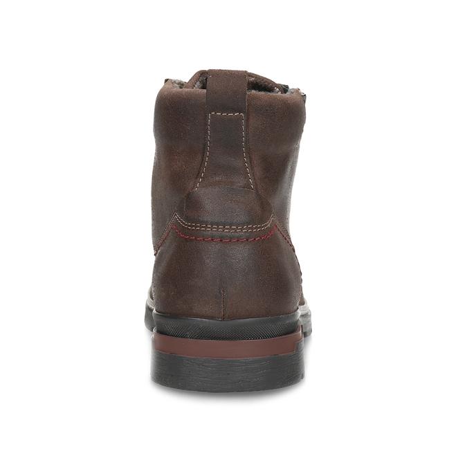 Pánská hnědá kožená kotníčková obuv bata, hnědá, 896-4601 - 15