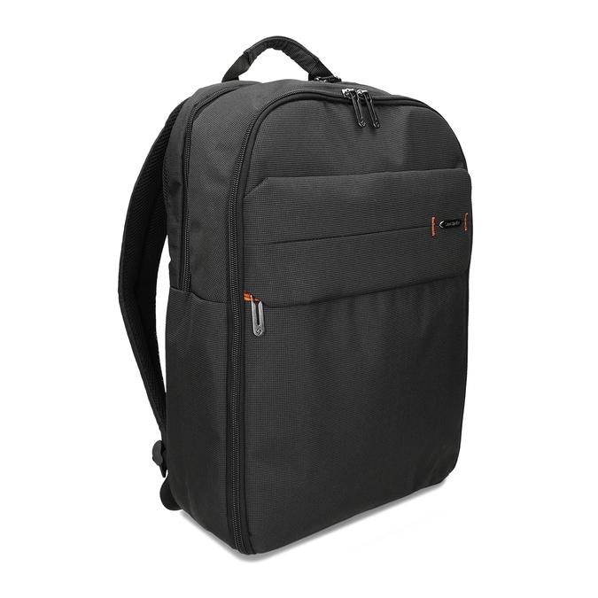 Černý textilní cestovní batoh samsonite, černá, 960-6066 - 13