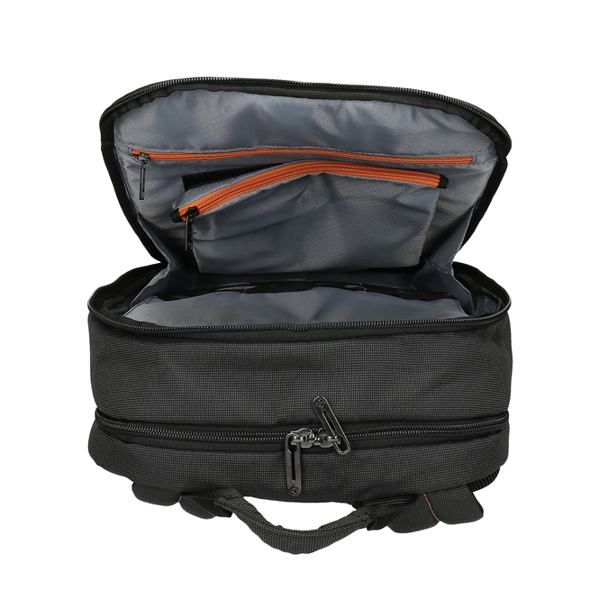 Černý textilní cestovní batoh samsonite, černá, 960-6066 - 15