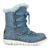 Modré dětské kožené sněhule se zateplením mini-b, modrá, 493-9622 - 19