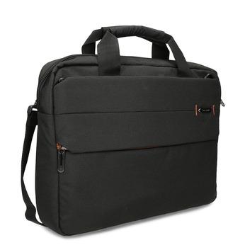 Černá textilní cestovní taška na dokumenty samsonite, černá, 960-6067 - 13