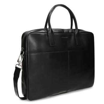 Kožená černá taška na dokumenty royal-republiq, černá, 964-6340 - 13